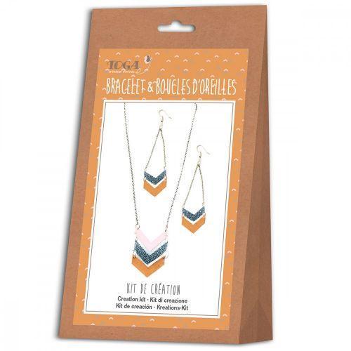 Kit de création de bijoux - bracelet et boucles d'oreilles - Nude