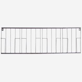 Magazine wall rack - Iron - 100 x 34 cm - Silver
