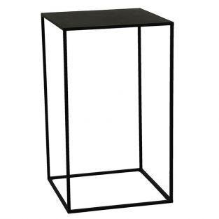 Sellette en métal Noir Zen 78 x 46 x 46 cm - Pomax