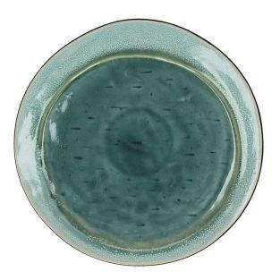 Assiette plate Kimo en grès Aqua Ø 27 cm - Pomax