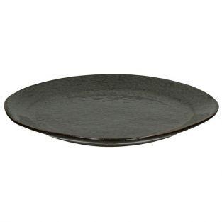 Pomax sandstone flat plate Ø 27 cm - Pepper