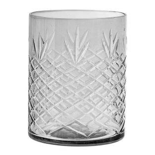 Bloomingville Glass candle holder 11 cm - Gray