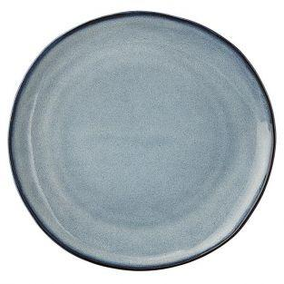 Assiette à dessert Sandrine en grès Bleu Ø 22 cm