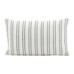 Coussin en coton Noir et Blanc Additionnel 30 x 50 cm