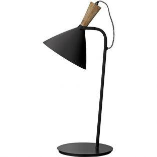 Table lamp in black metal and wood 59 cm