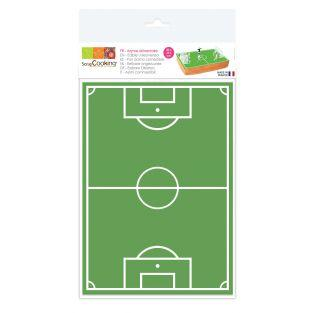 Football field wafer sheet 20 x 30 cm