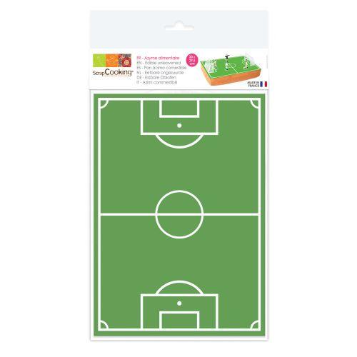Hoja de oblea Campo de fútbol 20 x 30 cm