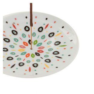 Coupelle porte-encens en porcelaine - Samba