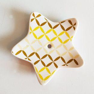 Porcelain star incense holder - Grid