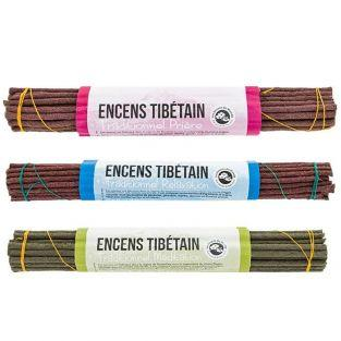 Set of 3 traditional Tibetan incense - Mediation, relaxation & prayer