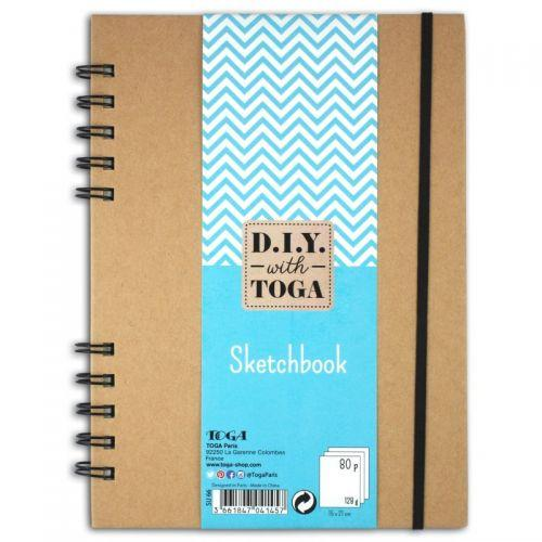 Drawing notebook 80 white pages 128 g / m² with spiral 15 x 21 cm
