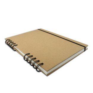 Carnet à dessin 80 pages blanches 128 g/m² avec spirale 15 x 21 cm