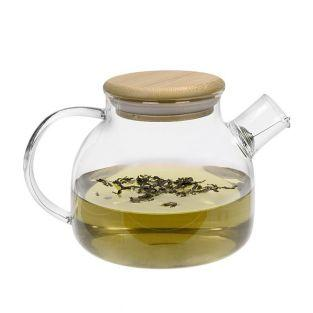 Glass & bamboo teapot - 1 L