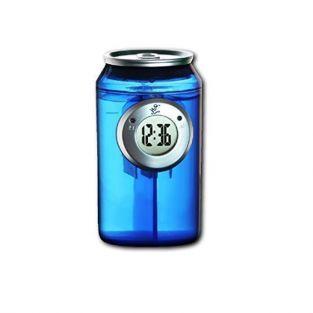 Reloj de agua con forma de lata