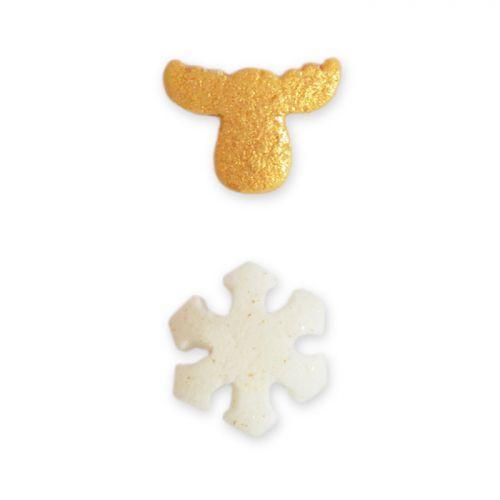 Décors sucrés Flocon & Caribou - pot 50 g