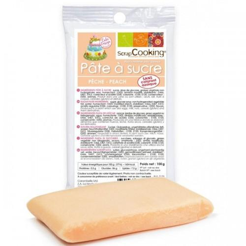 Pasta de azúcar de color melocotón - 100 g