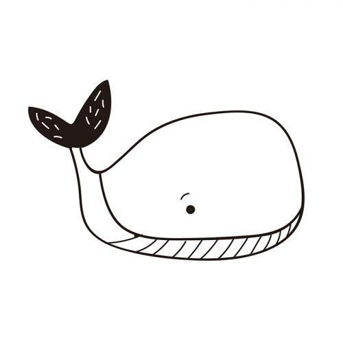 Tampon bois Baleine