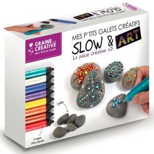 Coffret mon atelier de Galets créatifs + 8 crayons