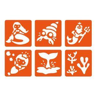 6 mini stencils - Mermaid