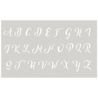 Pochoir 12 x 20 cm - Alphabet majuscule n°3