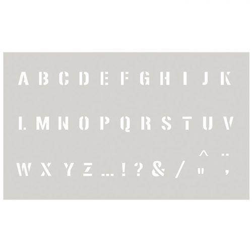 Stencil 12 x 20 cm - Capital Alphabet n°2