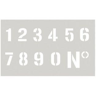 Pochoir 12 x 20 cm - Chiffres n°2