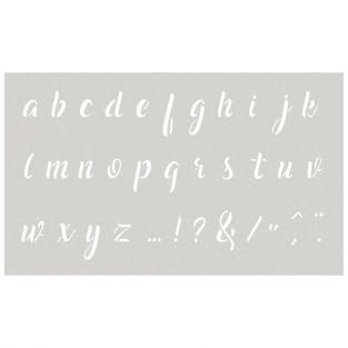 Stencil 12 x 20 cm - Small alphabet n°2