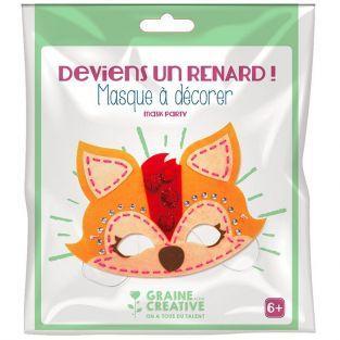 Kit masque en feutrine à décorer - Renard