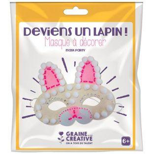 Kit masque en feutrine à décorer - Lapin