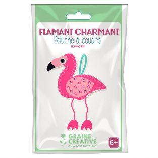Plush Sewing Kit - Flamingo