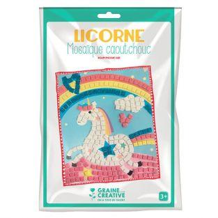 Soft rubber mosaic box - Unicorn