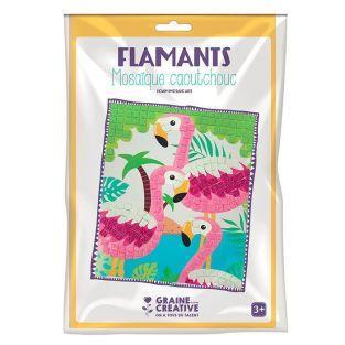 Kit mosaico de goma blanda - Flamingo