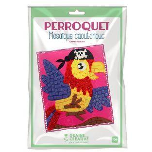 Coffret mosaïque en caoutchouc souple - Perroquet pirate