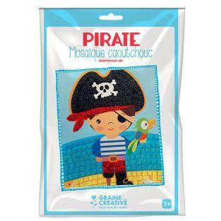 Kit mosaico de goma blanda - Pirata