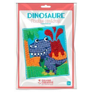 Kit mosaico de goma blanda - Dinosaurio