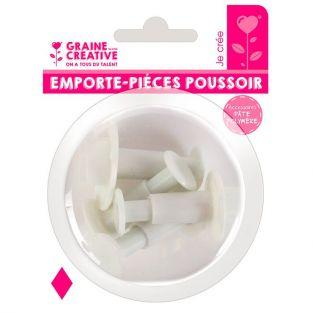4 emporte-pièces à poussoir en plastique - Losange