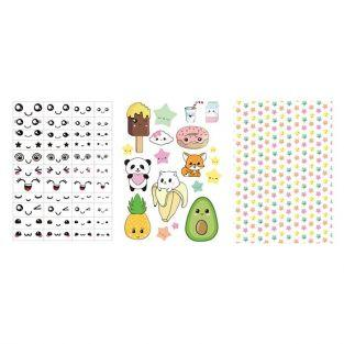 3 Polymer clay transfer sheets - Kawaii