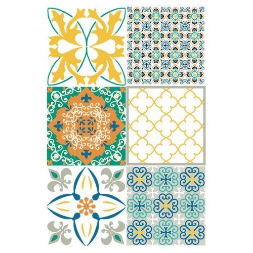 3 Polymer clay transfer sheets - Mosaic