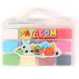 Coffret gomme à modeler Patagom 12 couleurs