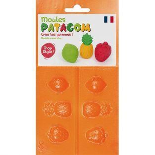 Moules pour gomme à modeler Patagom - Fruits