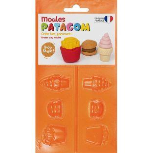 Moules pour gomme à modeler Patagom - Junk food