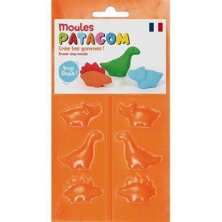 Moules pour gomme à modeler Patagom - Dinosaures