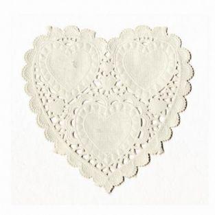 Heart doilies paper