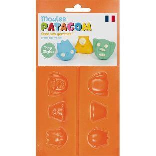 Moules pour gomme à modeler Patagom - Monstres