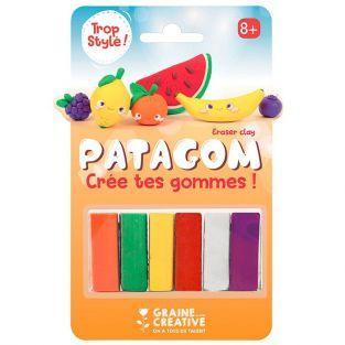 Goma de borrar para modelar 6 colores - Frutas