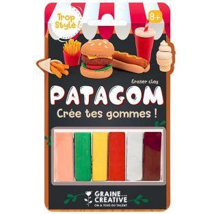 Goma de borrar para modelar 6 colores -  Comida chatarra