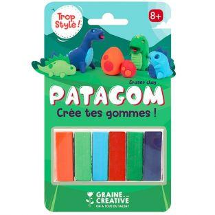 Patagom 6-color Eraser clay - Dinosaurs