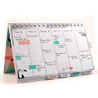 Agenda semanal para escritorio - Tropical