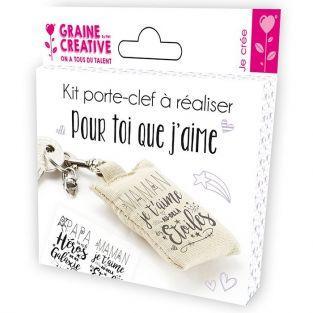 Kit llavero para hacer - Día de la Madre / Día del Padre (en francés)