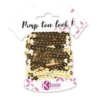 6 sequin ribbons 6 m - Gold